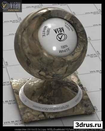 V-ray stone materials