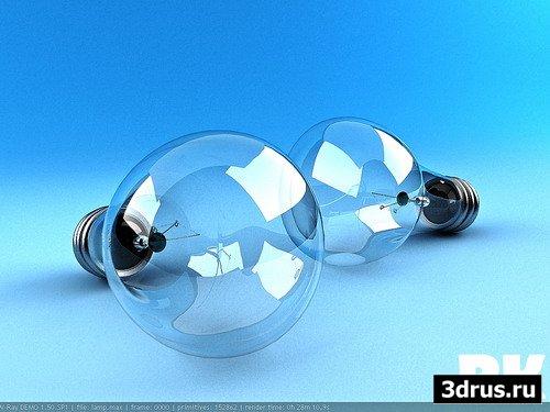 Моделирование лампочки в 3ds max