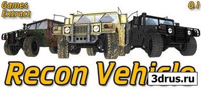 3D Cars Models - Games Extract Recon Vehicle Pack
