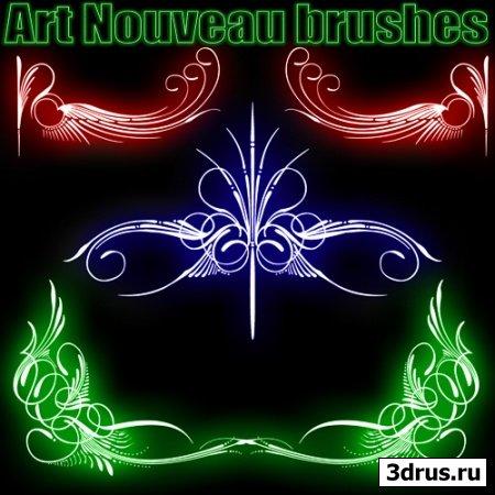 Art Nouveau brushes