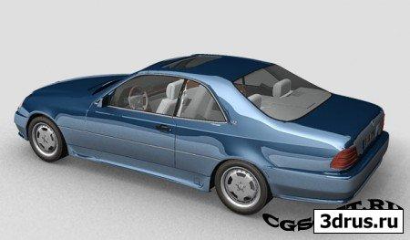 Mercedes 600sl 3dsmax model
