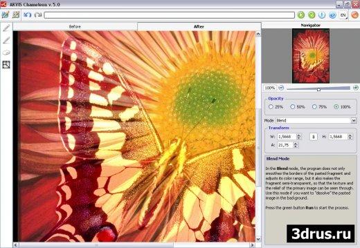 Плагин AKVIS Chameleon для Photoshop