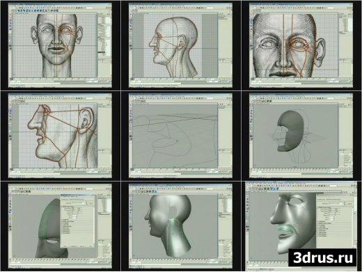 Maya Techniques-Modeling a Human Head by Petre Gheorghian