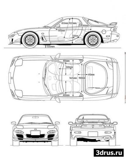 7 чертежей Mazda