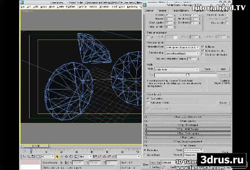 3dsmax9 Video Tutorial Diamond Material