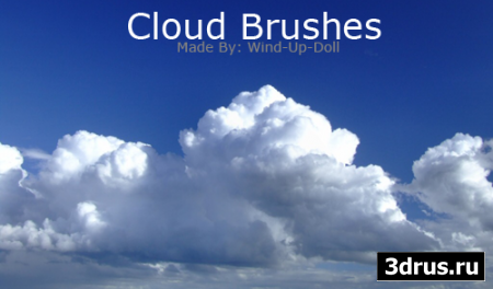 10 Large Cloude Brushes