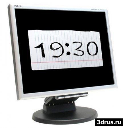 Анимированые часики, скринсейвер Blot Clock