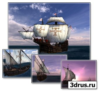 Voyage of Columbus 3D Screensaver 1.0