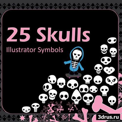 Freebie - Sk8 Skull Symbols