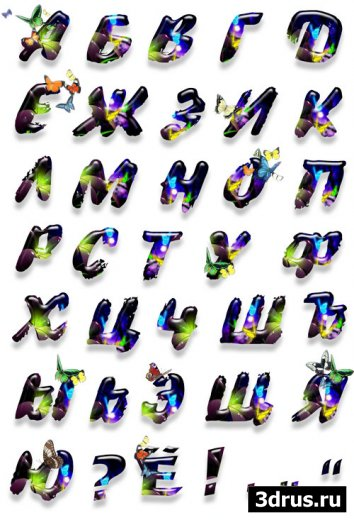2 русских алфавита  в Png формате