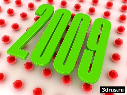 Календарная сетка на 2009 год в векторе