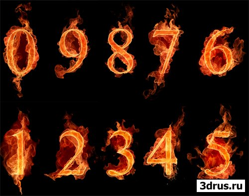 Photoshop Буквы Цифры