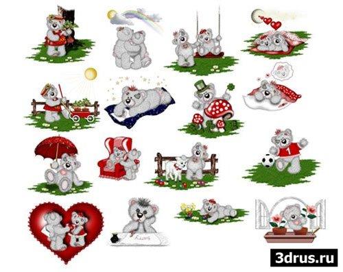 """Gif картинки """"Мишки Тедди"""""""