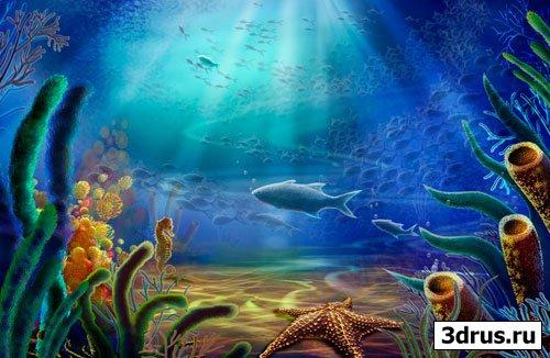 Морские глубины - Psd исходник