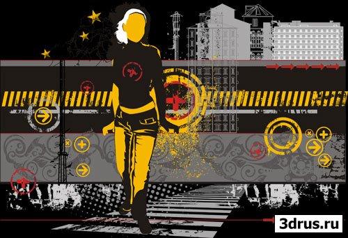 Urban life - векторная иллюстрация