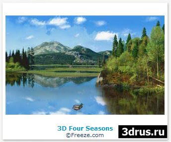 3D Four Seasons хранитель экрана