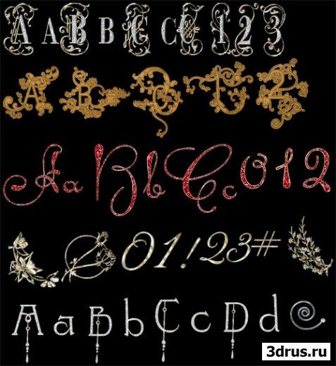 5 наборов латинских букв и цифр