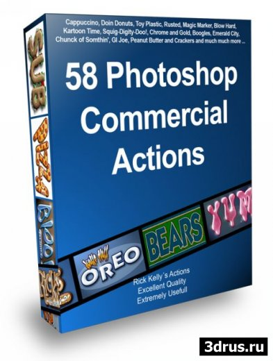 58 Photoshop Comercila Actions