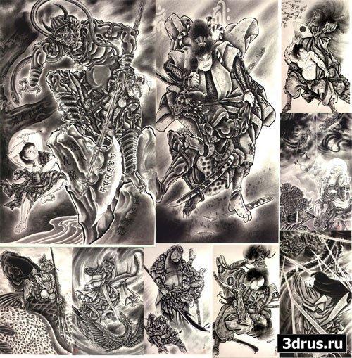 100 Demons Japanese Tattoo HORIYOSHI III