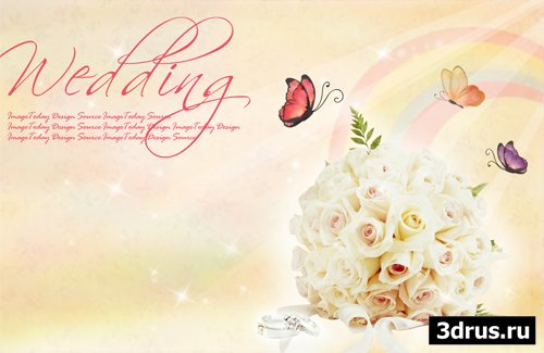 Big wedding backgrounds psd 8