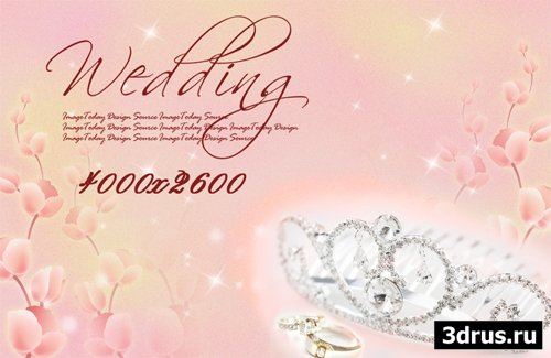 Big wedding backgrounds psd 3