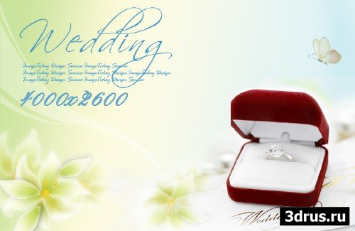 Big wedding backgrounds psd 10