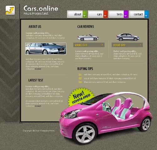 6 Шаблонов для сайта, на автомобильную тематику!!