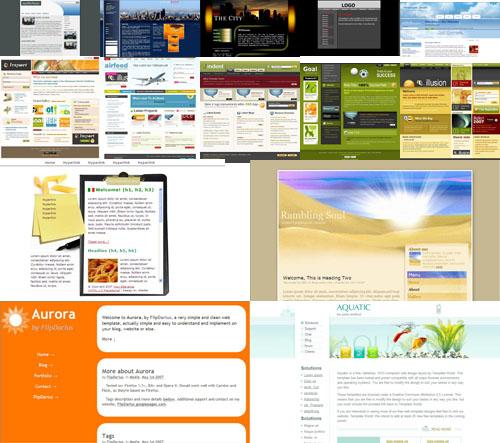 Более 500 шаблонов для сайтов  html, css,psd + Исходники