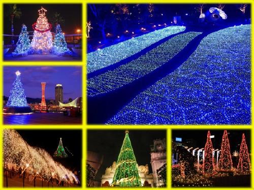 Креативные обои, новогодняя версия - города в новый год