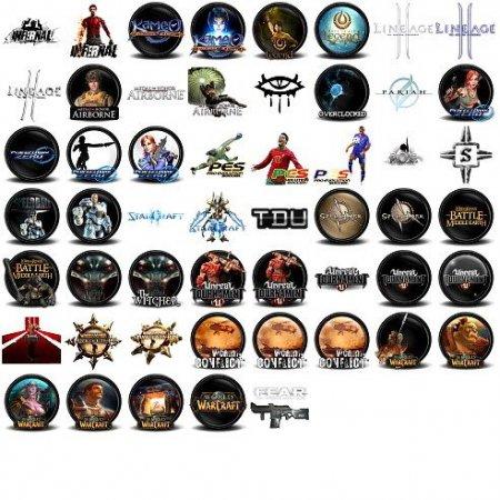 Набор иконок для геймеров (117 штук, формат. PNG)