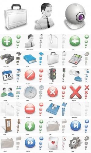 Vectorial vista icons