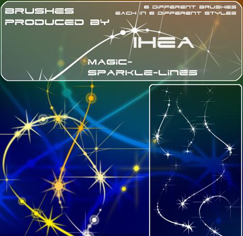 Кисти - Magic Sparkle Lines