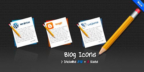 Набор иконок - Blog PNG Icons