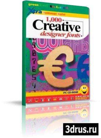 1000 Creative designer fonts.