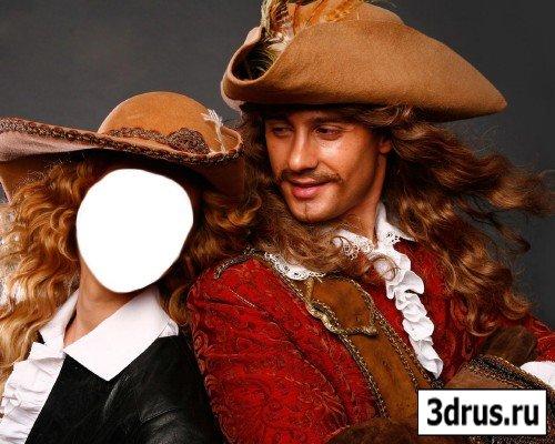 Шаблон для фотошопа «Возвращение мушкетеров»