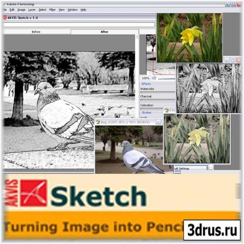 AKVIS Sketch 8.6 (плагин для фотошоп)