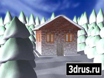 Создание дома и снега в 3ds Маx