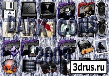 Dark Style Icons Pack