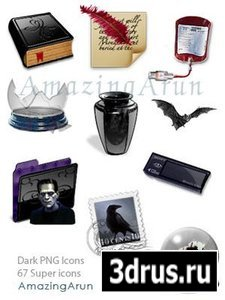 Dark PNG Icons