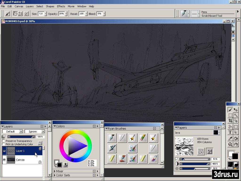The Gnomon Workshop - Introduction to Corel Painter Concept Art