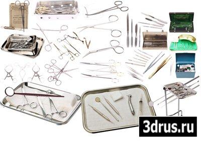 Клипарт медицинский – Хирургические и стоматологические инструменты