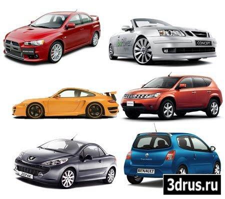 Автомобили разных моделей - растровый клипарт