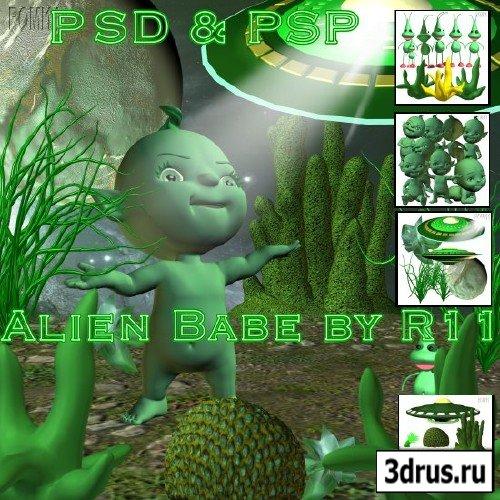 Toon Alienbabe PSD