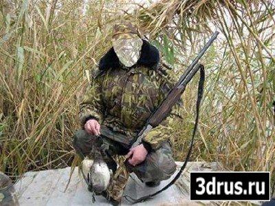 Шаблон для фотошопа - Охотник с утками