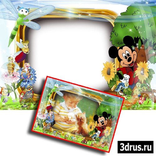 Детская рамочка с Микки Маусом (PSD)