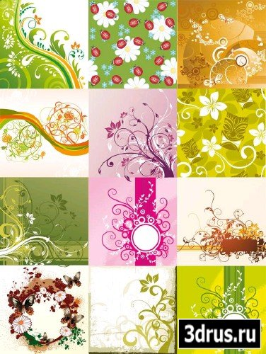 15 Floral Backgrounds