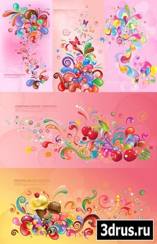 Pink backgrounds vector by Asadal