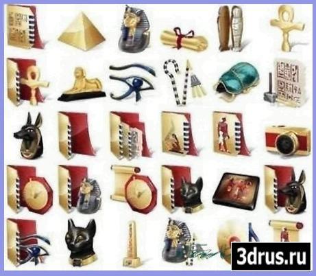Иконки для дизайна - Древний Египет