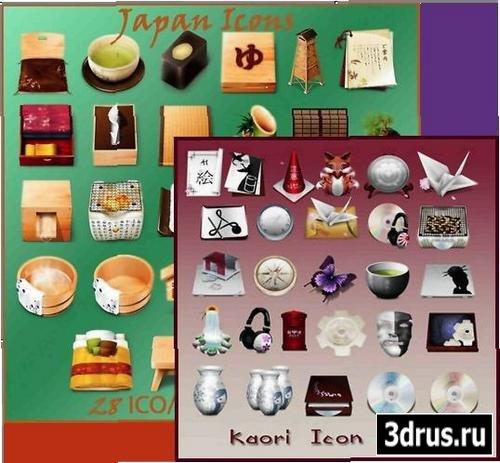 Красивые наборы иконок: Japan Icons Pack & Kaori Icon Pack