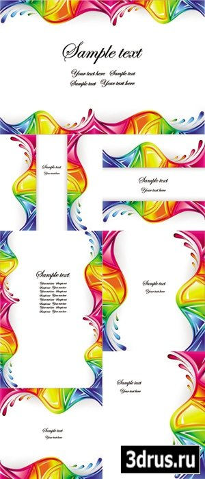 Abstract Color Splashes Vector